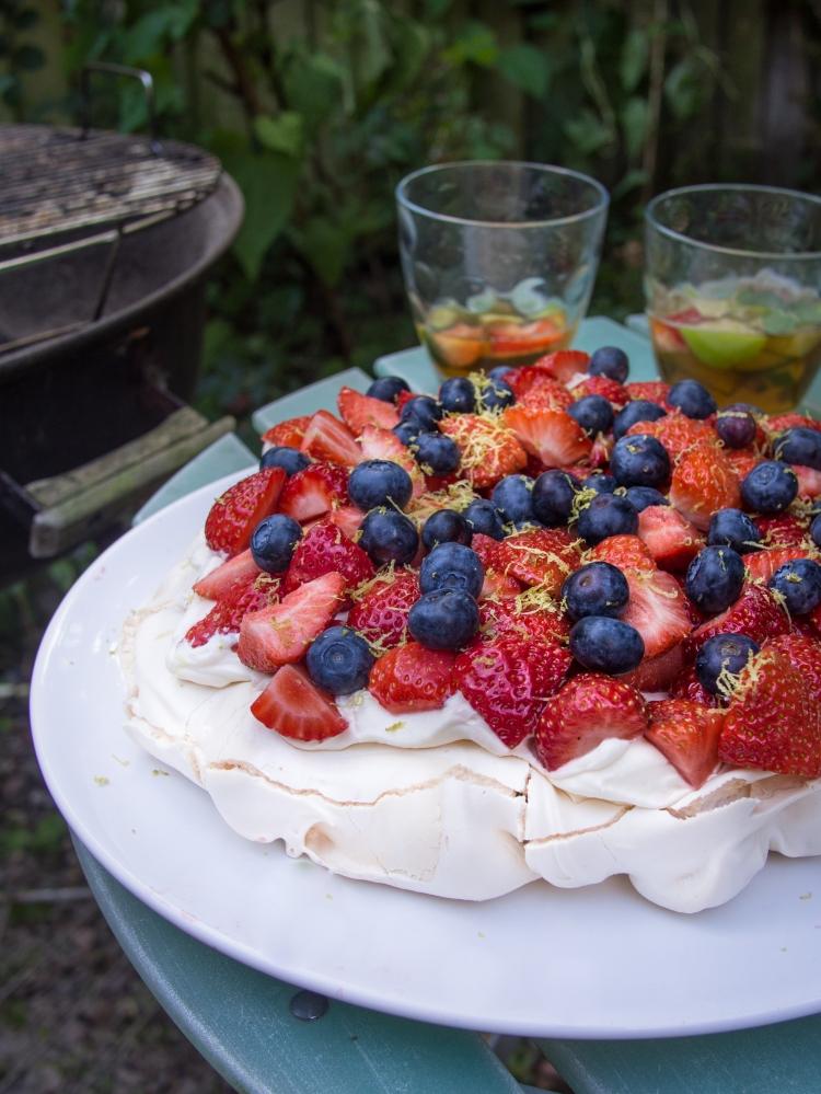 Strawberry Daiquiri Pavlova