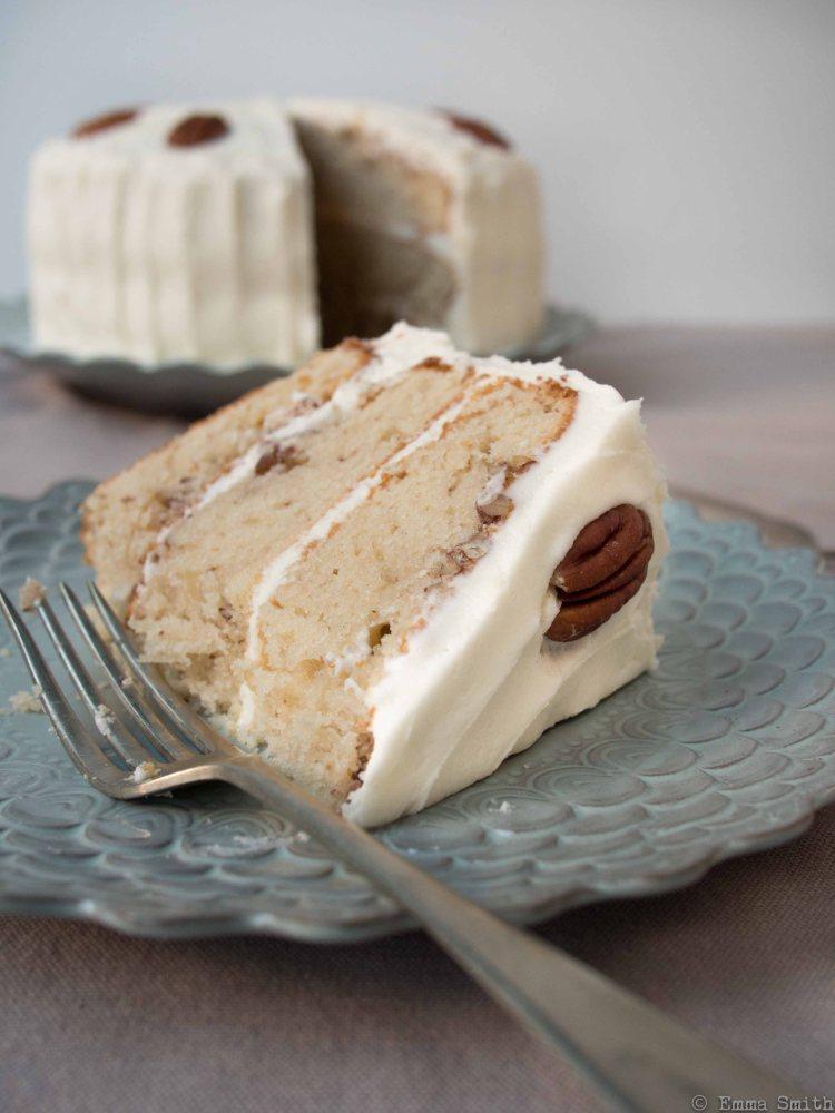 Hummingbird Maple and pecan layer cake