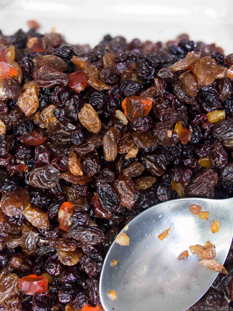 Brandy Soaked Christmas cake fruit