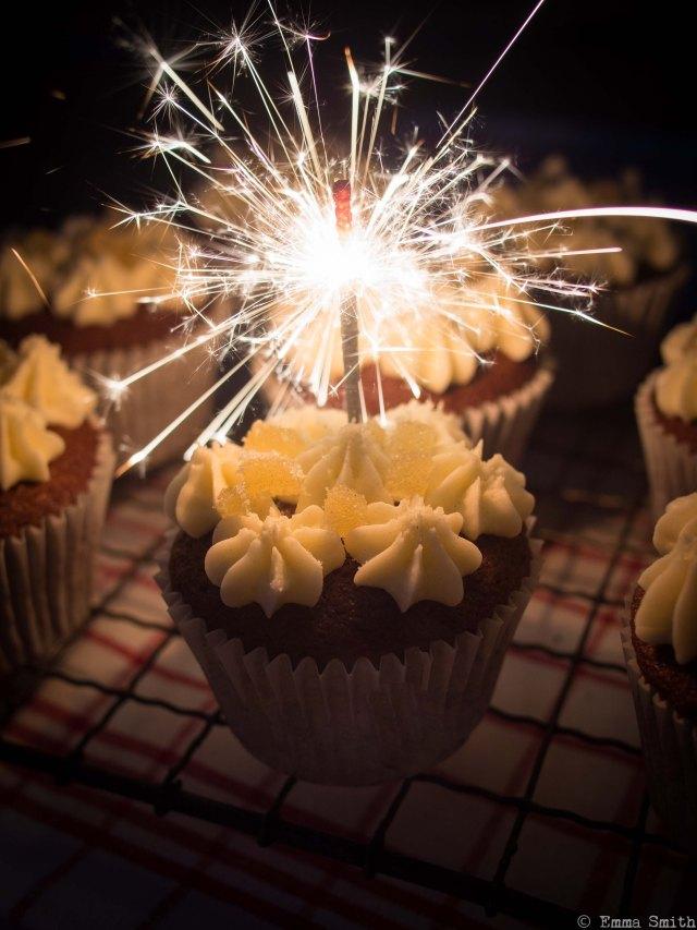 Bonfire Gingerbread Cupcakes