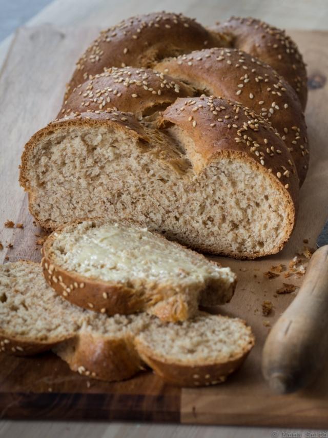 Plaited Spelt Milk Loaf