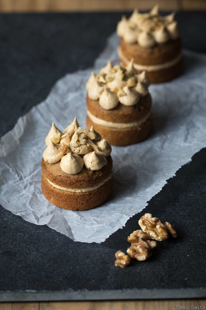 Mini Coffee & Walnut Cakes | Fork and Pixel