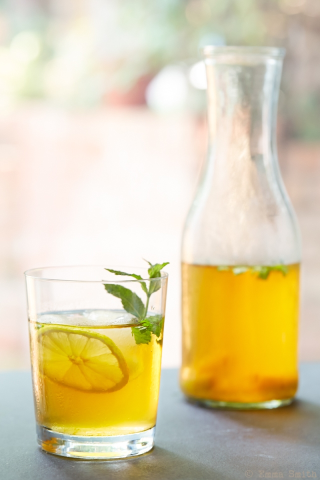 Lemon & Mint Iced Tea cold brew