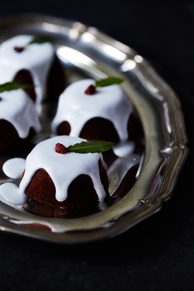 Chocolate Clementine Mini Christmas puds