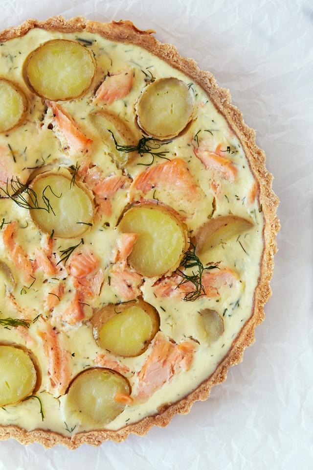 Salmon and new Potato Tart