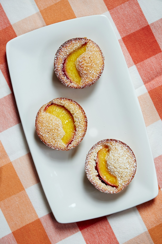 Nectarine and Almond Friands