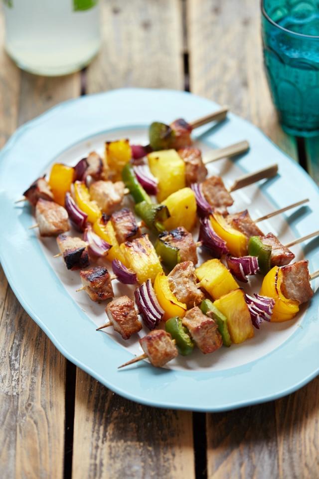 Pork Kebabs honey soy ginger